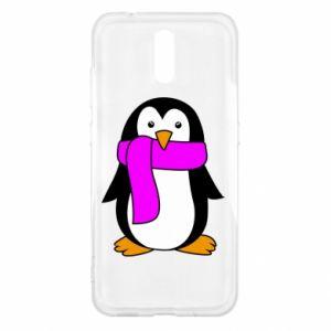 Etui na Nokia 2.3 Penguin in a scarf