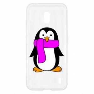 Etui na Nokia 2.2 Penguin in a scarf