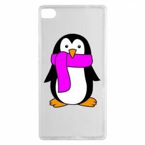 Etui na Huawei P8 Penguin in a scarf
