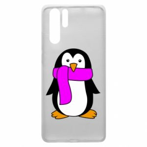 Etui na Huawei P30 Pro Penguin in a scarf