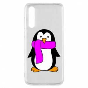 Etui na Huawei P20 Pro Penguin in a scarf