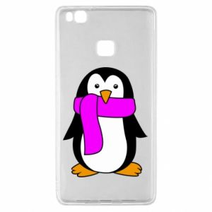 Etui na Huawei P9 Lite Penguin in a scarf