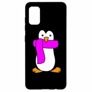 Etui na Samsung A41 Penguin in a scarf