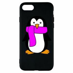 Etui na iPhone SE 2020 Penguin in a scarf