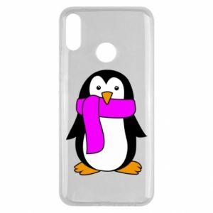 Etui na Huawei Y9 2019 Penguin in a scarf