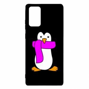 Etui na Samsung Note 20 Penguin in a scarf