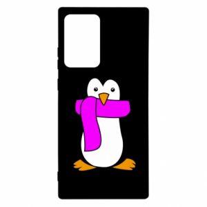 Etui na Samsung Note 20 Ultra Penguin in a scarf
