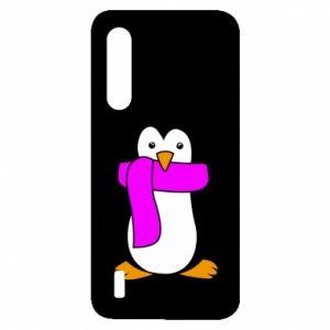 Etui na Xiaomi Mi9 Lite Penguin in a scarf