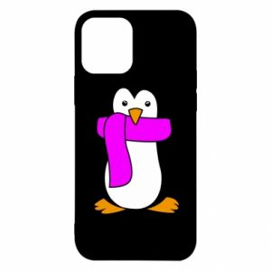 Etui na iPhone 12/12 Pro Penguin in a scarf