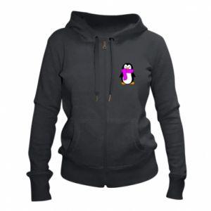 Damska bluza na zamek Penguin in a scarf - PrintSalon