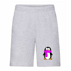 Men's shorts Penguin in a scarf