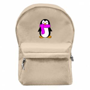 Backpack with front pocket Penguin in a scarf