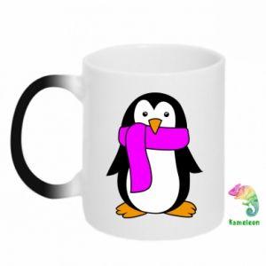 Kubek-kameleon Penguin in a scarf - PrintSalon