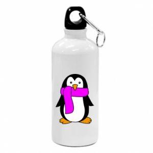 Bidon turystyczny Penguin in a scarf