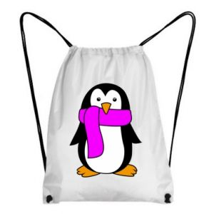 Backpack-bag Penguin in a scarf