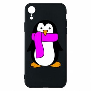 Phone case for iPhone XR Penguin in a scarf