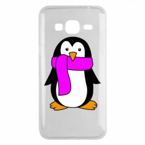 Phone case for Samsung J3 2016 Penguin in a scarf