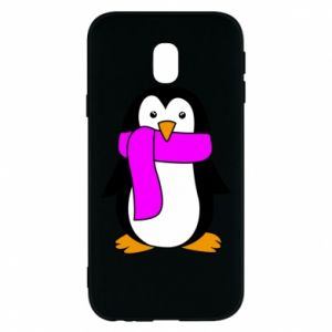 Phone case for Samsung J3 2017 Penguin in a scarf