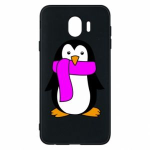 Phone case for Samsung J4 Penguin in a scarf
