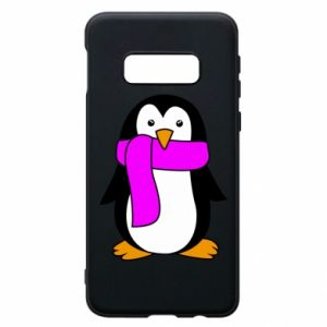 Phone case for Samsung S10e Penguin in a scarf