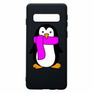 Phone case for Samsung S10 Penguin in a scarf