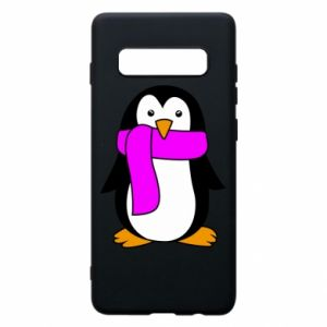 Phone case for Samsung S10+ Penguin in a scarf