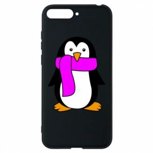 Phone case for Huawei Y6 2018 Penguin in a scarf