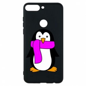 Phone case for Huawei Y7 Prime 2018 Penguin in a scarf