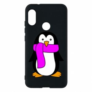Phone case for Mi A2 Lite Penguin in a scarf