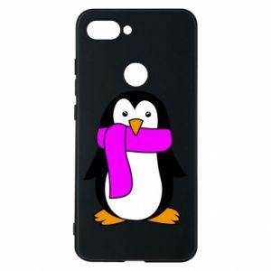 Phone case for Xiaomi Mi8 Lite Penguin in a scarf