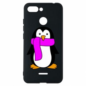 Phone case for Xiaomi Redmi 6 Penguin in a scarf