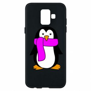 Phone case for Samsung A6 2018 Penguin in a scarf