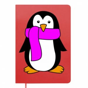 Notepad Penguin in a scarf