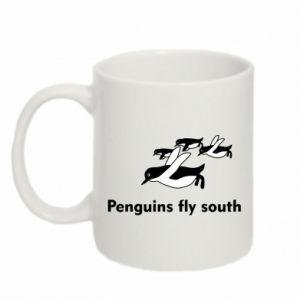 Kubek 330ml Penguins fly south