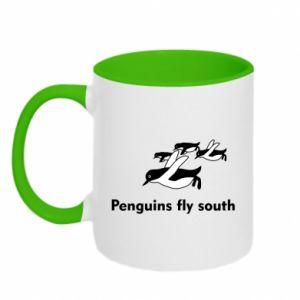 Kubek dwukolorowy Penguins fly south