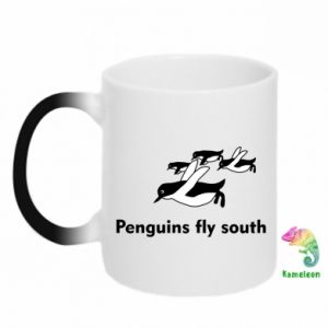 Kubek-magiczny Penguins fly south