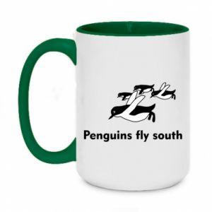 Kubek dwukolorowy 450ml Penguins fly south
