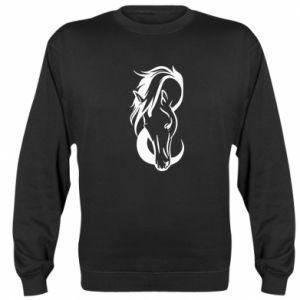 Bluza (raglan) Pensive horse - PrintSalon