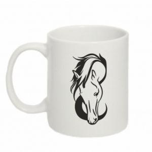 Kubek 330ml Pensive horse - PrintSalon