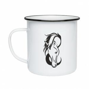 Kubek emaliowane Pensive horse - PrintSalon