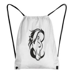 Plecak-worek Pensive horse - PrintSalon