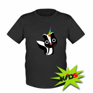 Kids T-shirt Pensive skunk