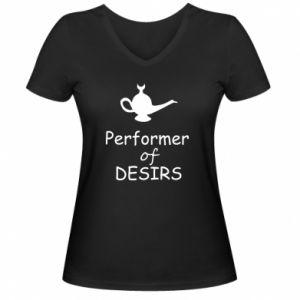 Damska koszulka V-neck Performer desirs