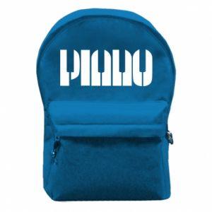 Plecak z przednią kieszenią Piano