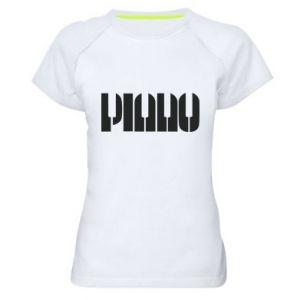 Damska koszulka sportowa Piano