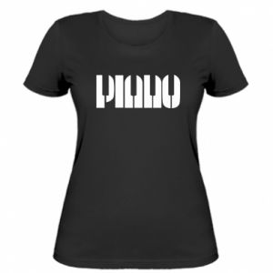 Damska koszulka Piano
