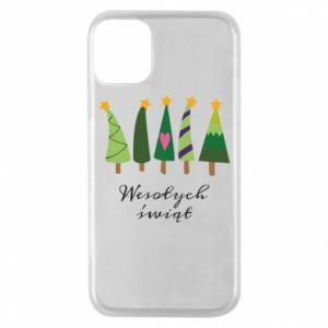 iPhone 11 Pro Case Five Christmas trees happy holidays