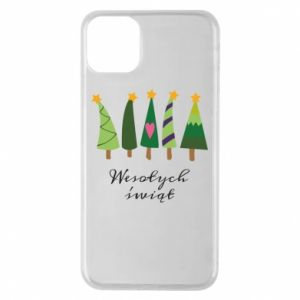 iPhone 11 Pro Max Case Five Christmas trees happy holidays