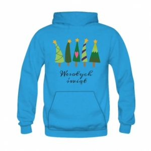 Kid's hoodie Five Christmas trees happy holidays