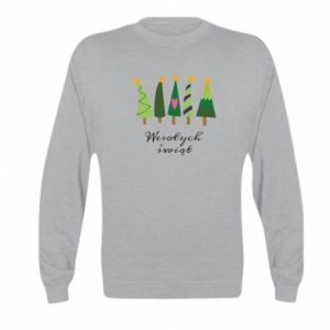 Kid's sweatshirt Five Christmas trees happy holidays